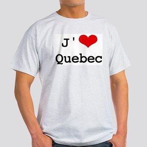 J' [heart] Quebec Light T-Shirt